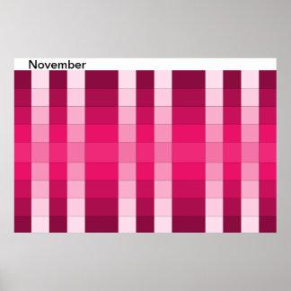 Calendario 11 de noviembre del mes del poster del