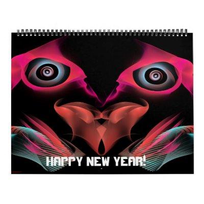 Calendario 13 Feliz Año Nuevo del mes 2012