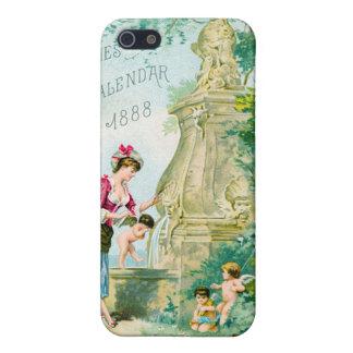 Calendario 1888 de las señoras del vintage iPhone 5 coberturas