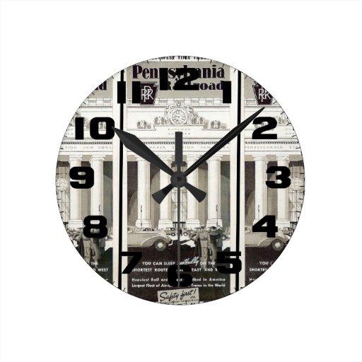Calendario 1941 de Nueva York de la estación de Reloj Redondo Mediano