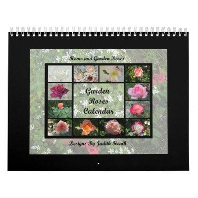 Calendario 1 de los rosas del jardín