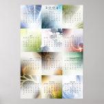 Calendario 2004 del fractal v1 poster