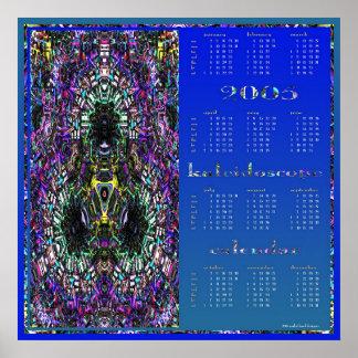 calendario 2005 del caleidoscopio póster