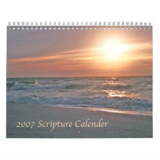 Calendario 2007 de la escritura