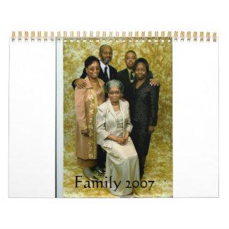 Calendario 2007 de la familia