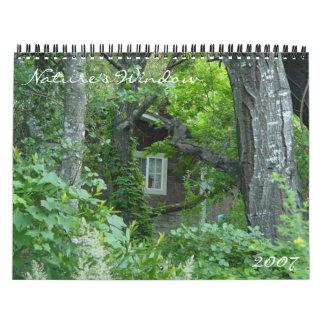 Calendario 2007 del ~ del ~ de la ventana de la