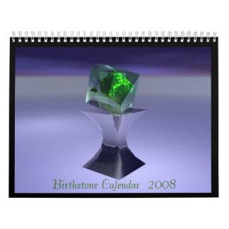 Calendario 2008 de Birthstone