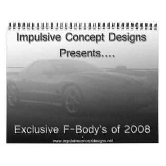 Calendario 2008 de Fbody