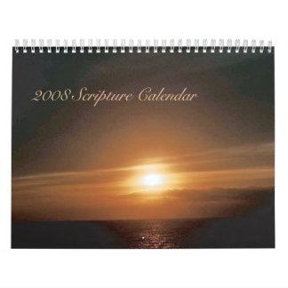 Calendario 2008 de la escritura