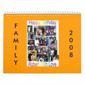 Calendario 2008 de la familia Brown