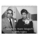 Calendario 2008 de la familia de Sakaguchi