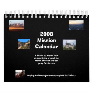 Calendario 2008 de la misión