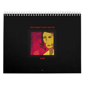 Calendario 2008 de la música y del arte de Chris