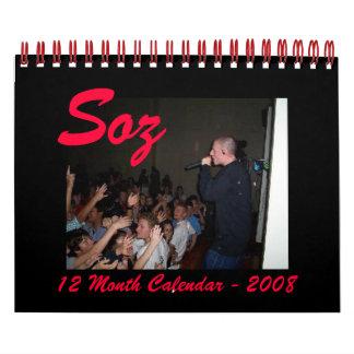 Calendario 2008 de Soz
