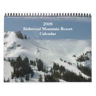 Calendario 2008 del centro turístico de montaña de