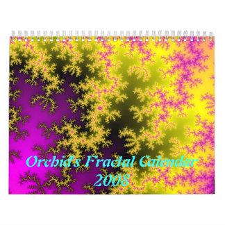 Calendario 2008 del fractal de la orquídea