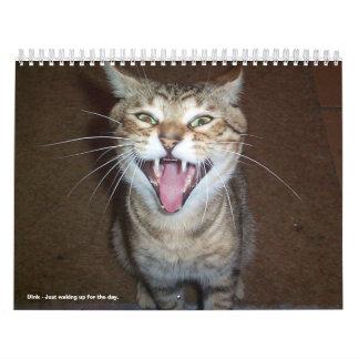 Calendario 2008 del gato con nombres