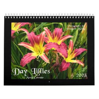 Calendario 2008 del lirio de día