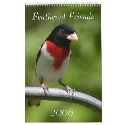 Calendario 2008 del pájaro