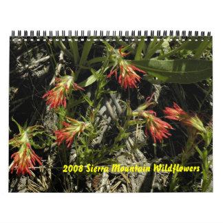 Calendario 2008 del Wildflower de la montaña de Si
