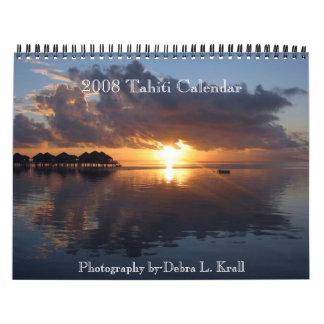 calendario 2008 o 2009 de Tahití