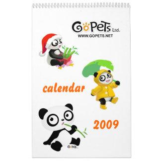 Calendario 2009 de Gopets