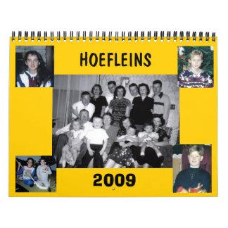 Calendario 2009 de Hoefleins