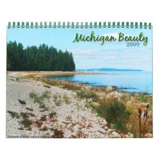 Calendario 2009 de la belleza de Michigan