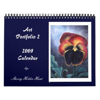 Calendario 2009 de la cartera del arte -