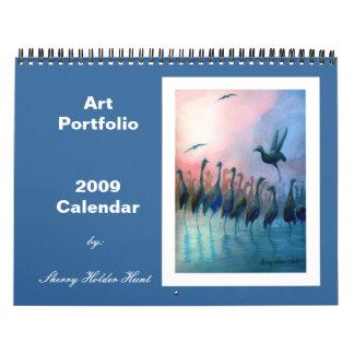 Calendario 2009 de la cartera del arte
