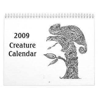 Calendario 2009 de la criatura