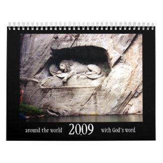 Calendario 2009 de la escritura