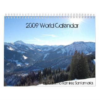 Calendario 2009 de mundo, por el espolón de