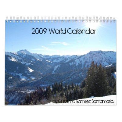 Calendario 2009 de mundo, por el espolón de Guille