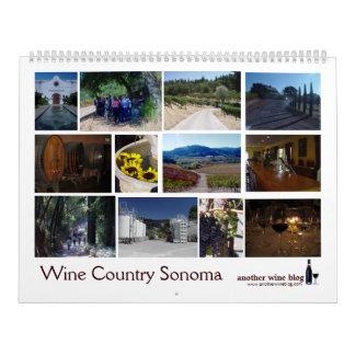 Calendario 2009 de Sonoma del país vinícola (AWB)