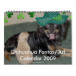Calendario 2009 del arte de la fantasía de la chih