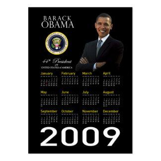 Calendario 2009 del bolsillo del promo de la tarjetas de visita grandes