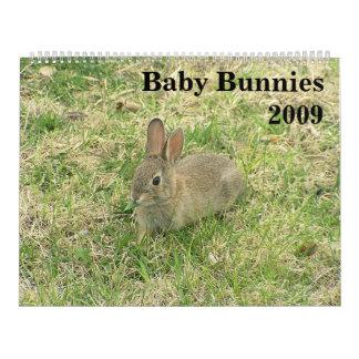 Calendario 2009 del conejito del bebé
