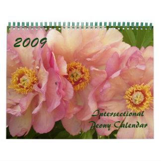 Calendario 2009 del Peony de Intersectional - modi