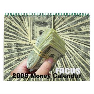 Calendario 2009 del tiempo del dinero