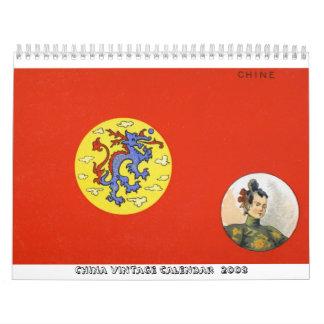 Calendario 2009 del vintage de China