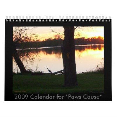 Calendario 2009 para los *Paws Cause*