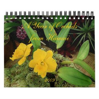 Calendario 2009: Un año de orquídeas de Hawaii
