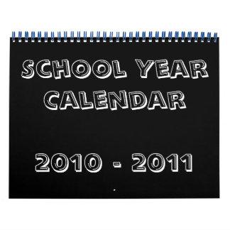 Calendario 2010 - 2011 del año escolar