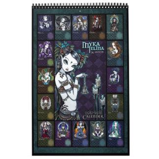 Calendario 2010-2011 del arte de Myka Jelina