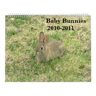 Calendario 2010-2011 del conejito del bebé