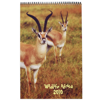 Calendario 2010 de África de la fauna - safari afr