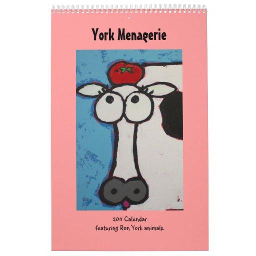 Calendario 2010 de la casa de fieras de York