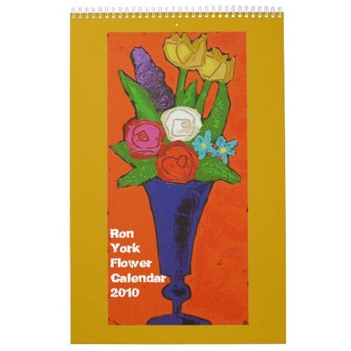Calendario 2010 de la flor de Ron York