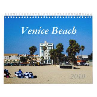 Calendario 2010 de la playa de Venecia